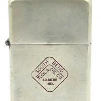 1946 Solid Nickel Silver Zippo - South Bend Tool & Die