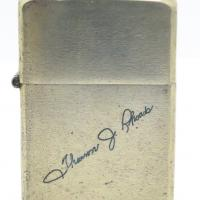 1946 Solid Nickel Silver Zippo - With Facsimile Signature
