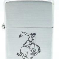 1948 3 Barrel Zippo Line Drawn Sports Series Bucking Bronco