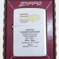 1960 Zippo Overton Container Wilson, NC and Andrews, SC