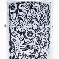 1974 Zippo Test Model Venetian Brushed Finish and Black Paint Filled.JPG