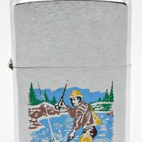 1975 Zippo Lighter Test Model Fisherman with Different Design