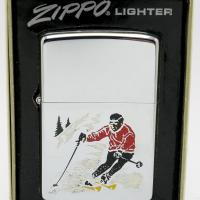1977 Test Model Sports Series Zippo Skier on High Polish Chrome