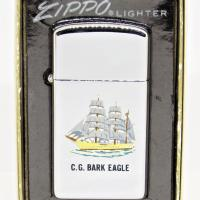 1964 Town & Country Slim Zippo Coast Guard  CG Bark Eagle.JPG