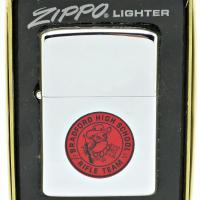 1974 Zippo Lighter - Bradford High School Rifle Team Transitional Town & Country