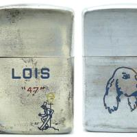 1947 Zippo 3 Barrel Employee's personalized lighter with drunk and setter