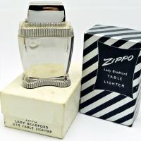 1950 Zippo Lady Bradford Table Lighter Mint in the Original Box with Outer Box